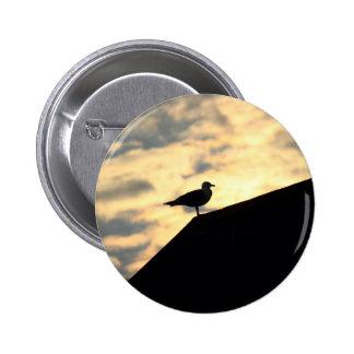 Sea Gull Sunset 6 Cm Round Badge