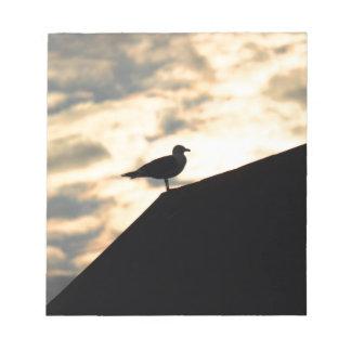 Sea Gull Sunset Notepad