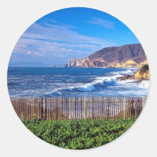 Sea Half Moon Bay California Stickers