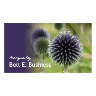 Sea Holly Floral Business Card (purple accent)