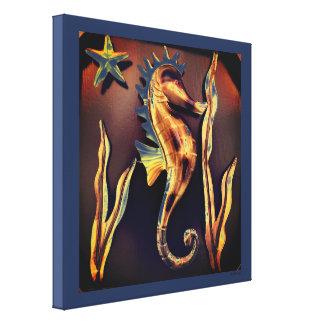 Sea Horse Abstract Art Canvas Print