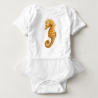 Sea horse Hippocampus hippocampus Baby Bodysuit