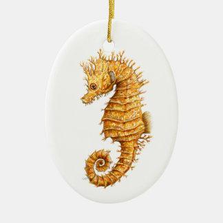 Sea horse Hippocampus hippocampus Ceramic Ornament