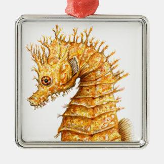 Sea horse Hippocampus hippocampus Metal Ornament