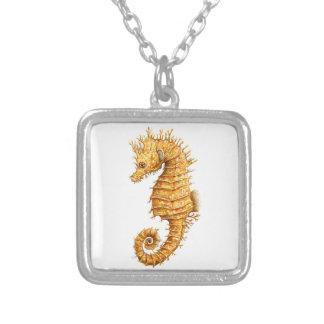 Sea horse Hippocampus hippocampus Silver Plated Necklace