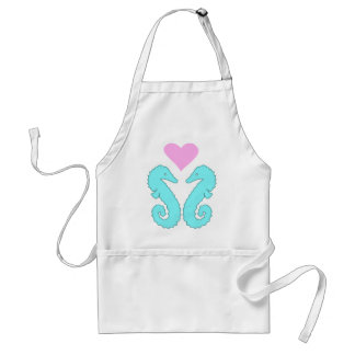 sea horse love standard apron