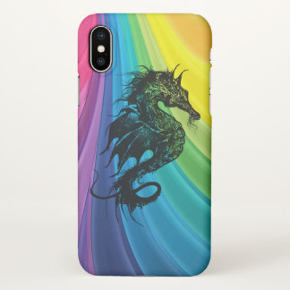 Sea Horse on Rainbow iPhone X Case