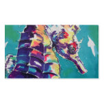 Sea Horse Silk Painting Business Card
