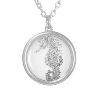 Sea Horse Silver Plated Necklace