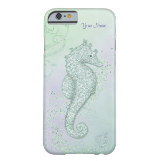 Sea Horse Sparkle - Customize Barely There iPhone 6 Case
