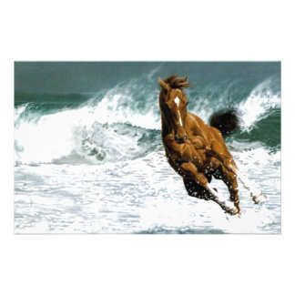 Sea horse stationery