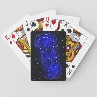 sea horse swims in lights poker deck
