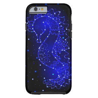 sea horse swims in lights tough iPhone 6 case