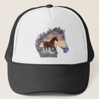 Sea horse trucker hat