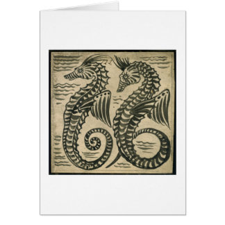 Sea-Horse (w/c on paper) Card