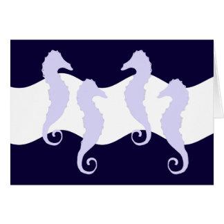 Sea Horses 2 Stationery Note Card