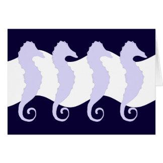 Sea Horses 3 Greeting Cards