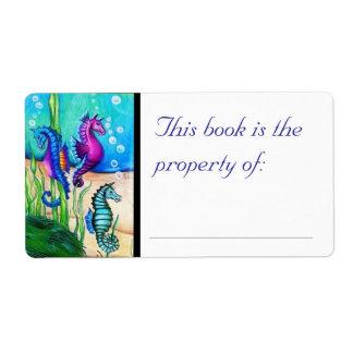 Sea Horses Book Label Shipping Label