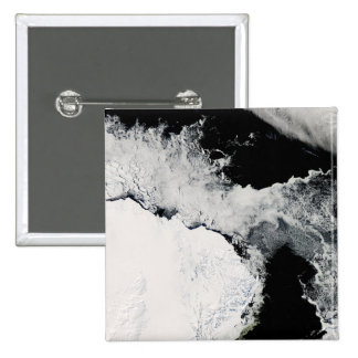 Sea ice in the Southern Ocean 15 Cm Square Badge