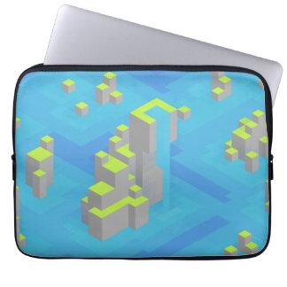 Sea Islands Trixel Art Computer Sleeves