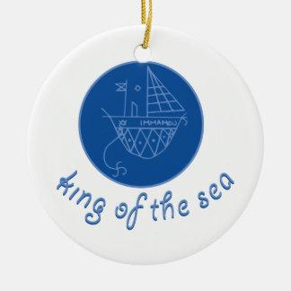 Sea King Round Ceramic Ornament