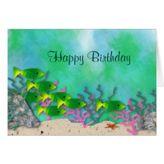 Sea Life Birthday Card