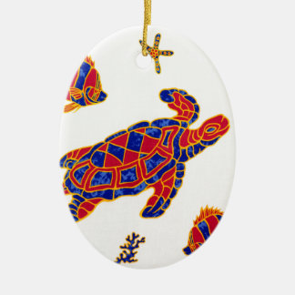 Sea life ceramic ornament