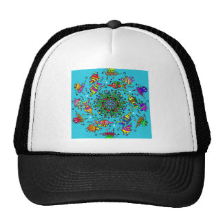 sea life design colorful mandala cap
