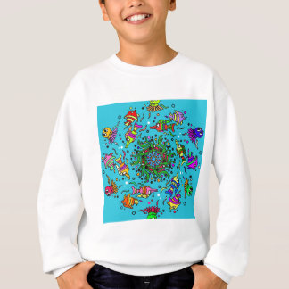 sea life design colorful mandala sweatshirt