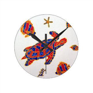Sea life round clock