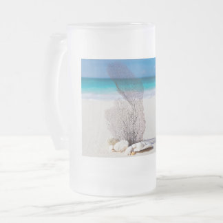 Sea Life Still Life Frosted Glass Beer Mug