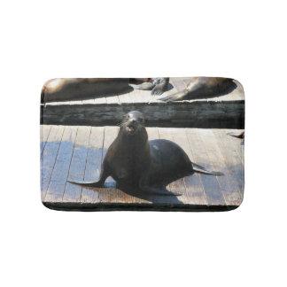 Sea Lion at Pier 39 in San Francisco Bath Mat