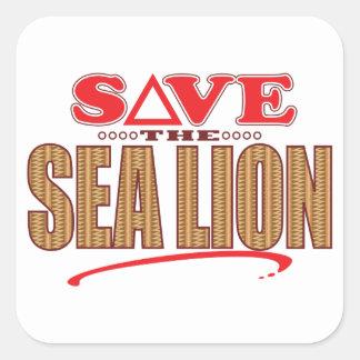 Sea Lion Save Square Sticker