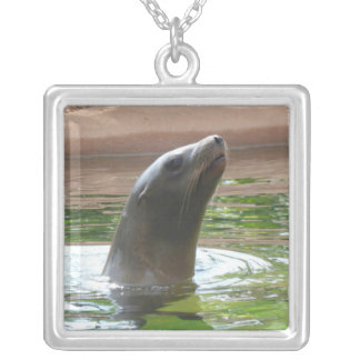 Sea Lion Silver Plated Necklace
