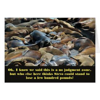 Sea lion Wisdom lose weight Card