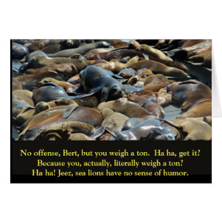 Sea lion wisdom weight card
