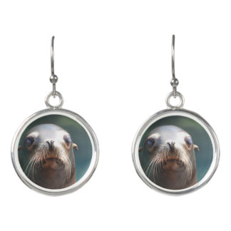 Sea Lion with Whiskers Earrings