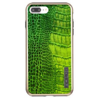 Sea Monster in Bright Green Faux Leather Incipio DualPro Shine iPhone 8 Plus/7 Plus Case