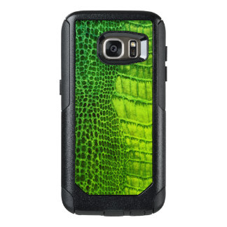 Sea Monster in Bright Green Faux Leather OtterBox Samsung Galaxy S7 Case