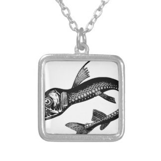 Sea Monster Silver Plated Necklace