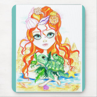 Sea Nymph and The Turtles Fantasy Art Mousepad