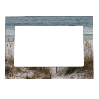Sea Oats Along the Beach Side Magnetic Picture Frame