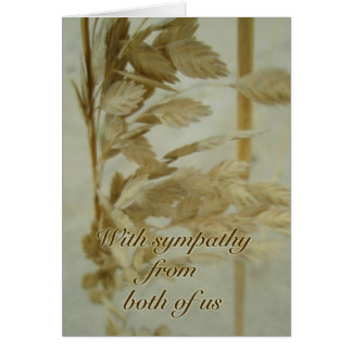 Sea Oats Sympathy From Both of Us Card