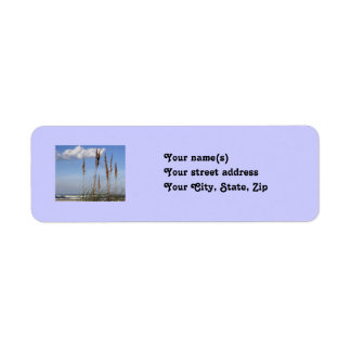Sea Oats, Waves and Sky Return Address Label