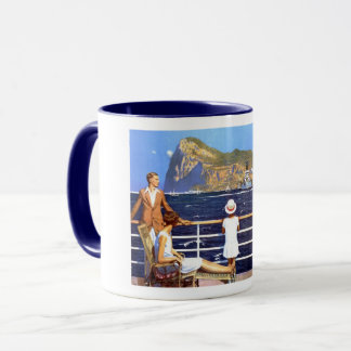Sea Ocean Cruise Travel to Gibraltar Vintage Mug