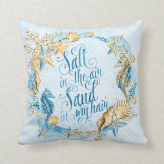 Sea & ocean pattern throw pillow