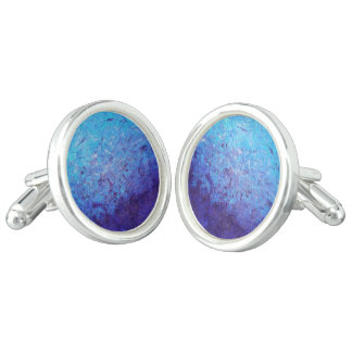 Sea of Blue Cufflinks (Oval)