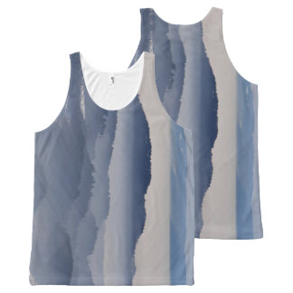 Sea of Foggy Mountains All-Over Print Singlet