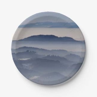 Sea of Foggy Mountains Paper Plate