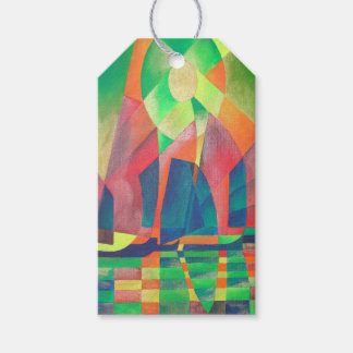 Sea of Green With Cubist Abstract Junks Gift Tags